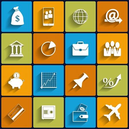 Bureau et d'affaires vectorielle Flat Icons