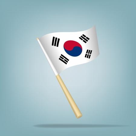 South Korea flag, vector illustration