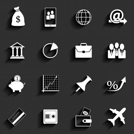 Bureaux et Commerces vectorielle plates Ic�nes