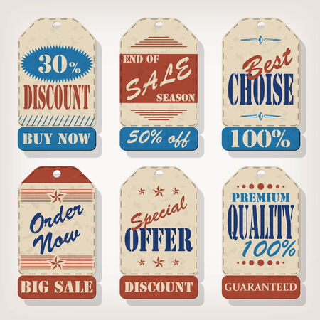 Set of vintage vector labels Stock Vector - 25592012