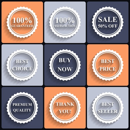 Set of vector flat sale icons