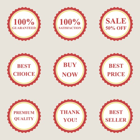 Set of vector flat sale icons Vector