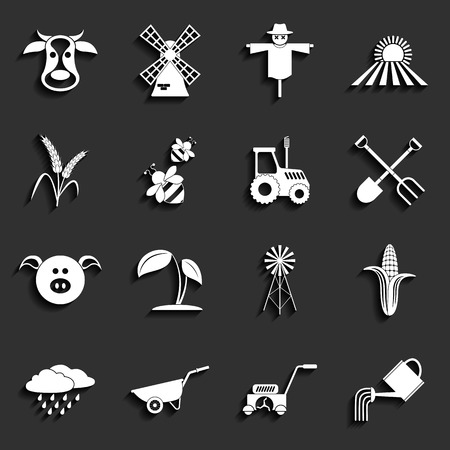 Agriculture and farming icons  Vector illustration