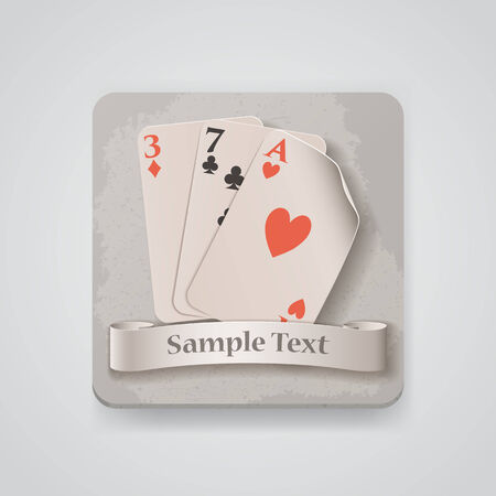 Playing cards icon. Stock Vector - 27491102