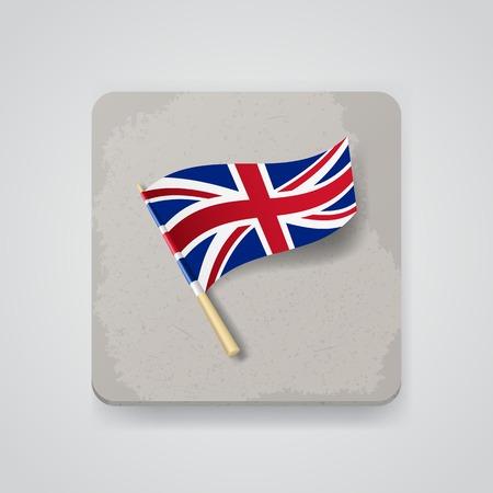 bandera de gran breta�a: Gran bandera de Gran Breta�a. Vectores