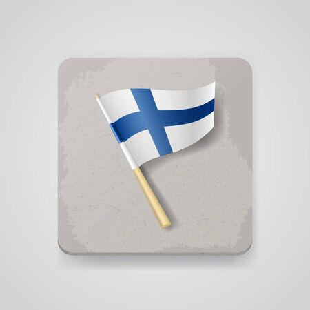 bandera de finlandia: Finlandia bandera, icono vector.