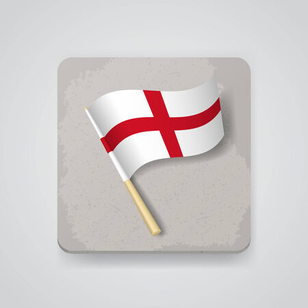 drapeau angleterre: Drapeau de l'Angleterre. Illustration