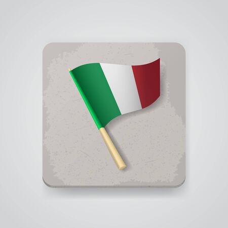 italien flagge: Italien-Flagge. Illustration