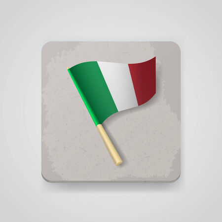 flag of italy: Italy flag.   Illustration