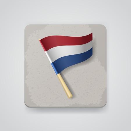 Netherlands flag.   Illustration