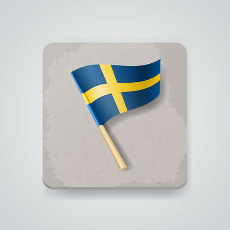 Sweden flag.    Vector