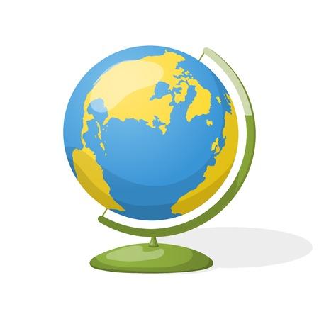 globe illustration Illustration
