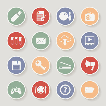 plate camera: Universal Round Icons For Web and Mobile. Vector illustration