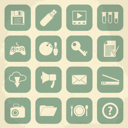 plate camera: Universal Retro Icons For Web and Mobile. Vector illustration Illustration