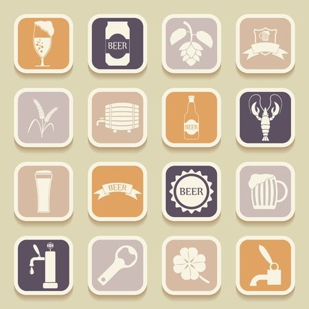 stopper: Beer universal icons for web and mobile applications. Vector illustration
