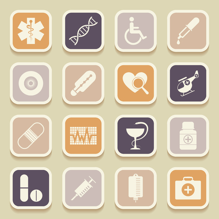 Medical universal icons for web and mobile applications. Vector illustration