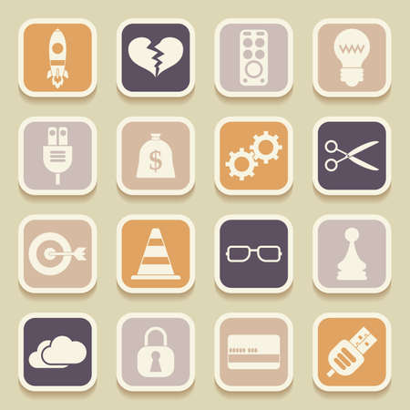 intentions: Universal Icons For Web and Mobile. Vector illustration