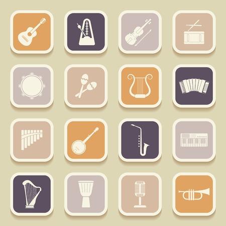 Instruments de musique ic�nes universelles pour le web et les applications mobiles. Vector illustration Illustration