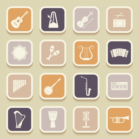 Musical instruments universal icons for web and mobile applications. Vector illustration