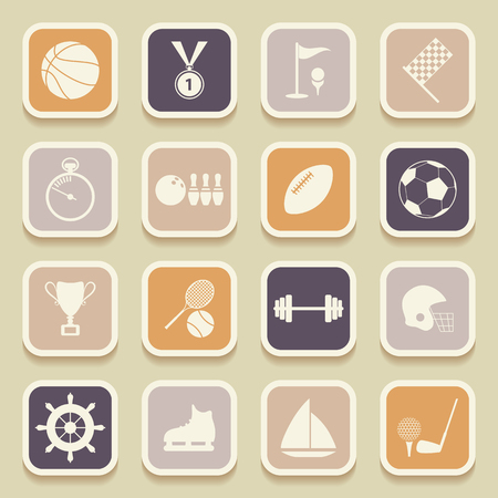 Sports universal icons for web and mobile applications. Vector Illustration