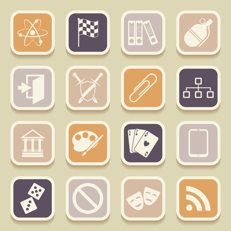 Universal Icons For Web and Mobile. Vector illustration