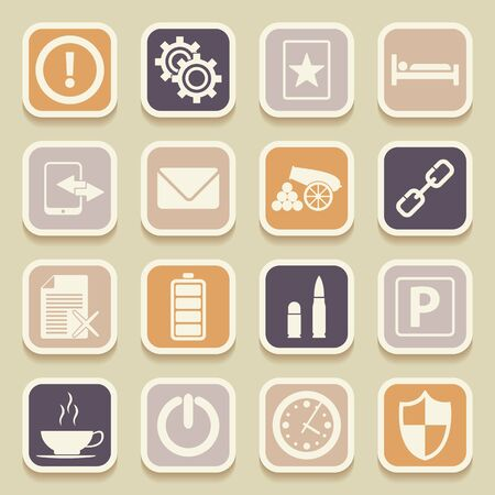 universal icons: Universal Icons For Web and Mobile. Vector illustration