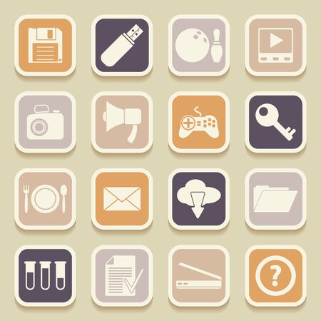 plate camera: Universal Icons For Web and Mobile. Vector illustration