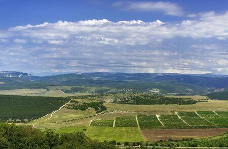 Beau paysage pr�s du mont Sapun. S�bastopol, en Crim�e, la Russie