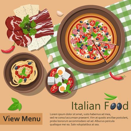 Italian food. Vector Illustration