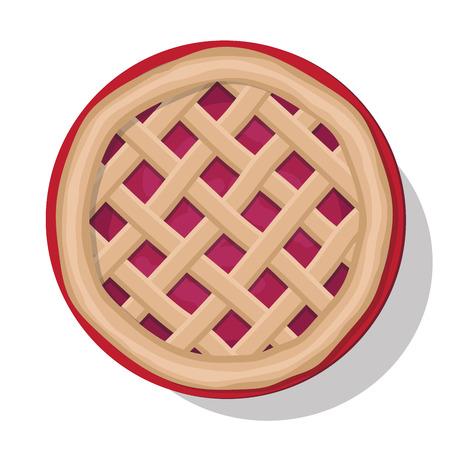 Apple pie vector illustration. Isolated on white Illustration