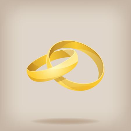 wedding rings: Pair of gold wedding rings. Vector illustration EPS10