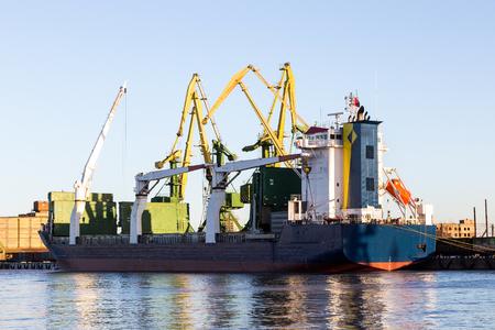 tanker ship: tanker ship in the port