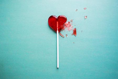 glass heart: broken heart lollipop