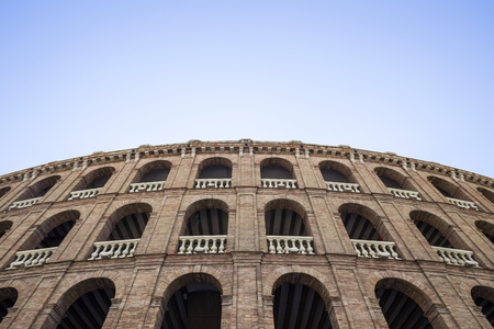 fighting bulls: arena for bullfights, Valencia Stock Photo