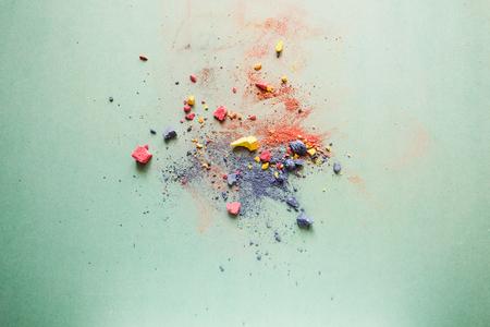 Broken colored chalks