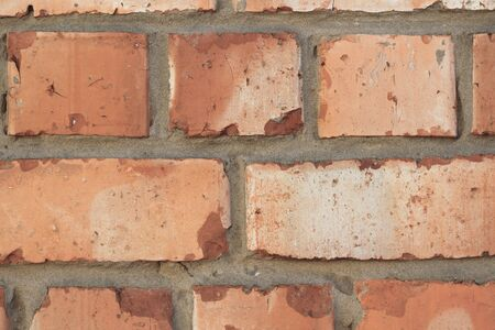 Retro brick wall old texture, great design for any purposes. Gray grunge texture.