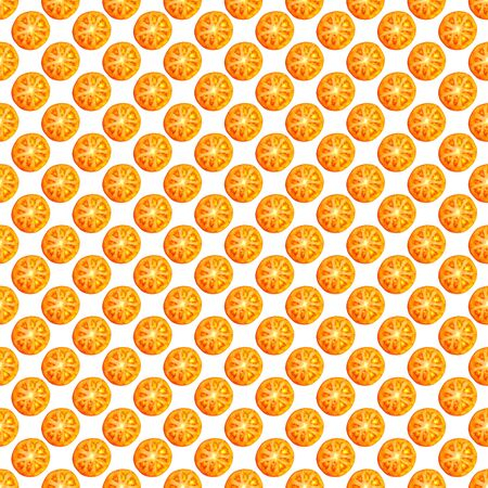 Seamless endless pattern of slices of juicy ripe red tomato. Design for wrapping paper, fabric and wallpaper.