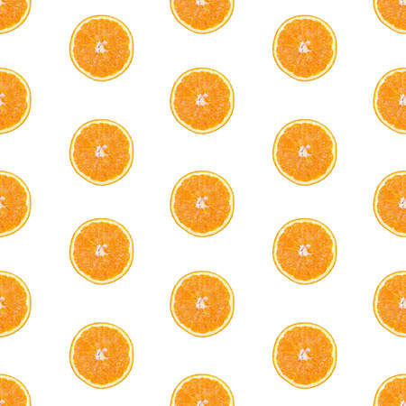Seamless infinity pattern of isolated slices of orange.