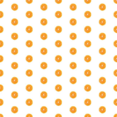 Seamless infinity pattern of isolated slices of orange. Wallpaper for background, design and packaging. Stock fotó