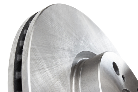 the texture of the metal brake disc Stock Photo