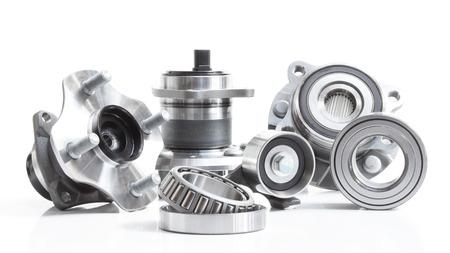 bearings isolated on a white background. horizontal layout Photo