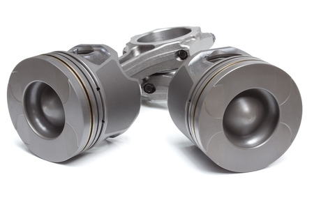 combustion chamber: pistons and connecting rods, main parts for an internal combustion engine Stock Photo