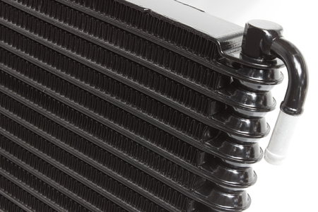 Various automobile radiators for engine cooling systems for air conditioning, for heating the passenger compartment, for cooling the oil in an automatic transmission Reklamní fotografie
