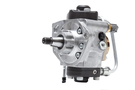 automotive fuel injection pump for diesel engines on a white background Standard-Bild