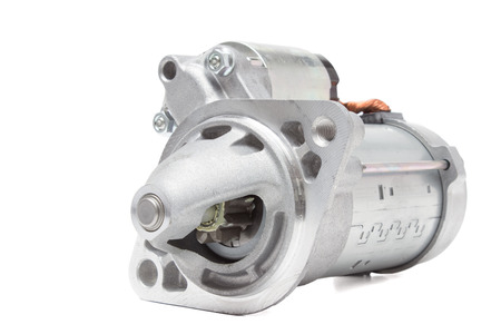 starter motor car on a white background