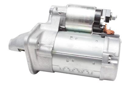 electromechanical: starter motor car on a white background