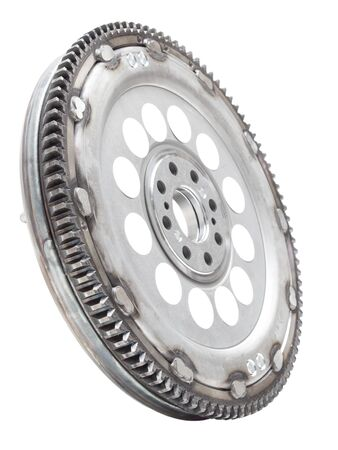 damping: new damping flywheels for automotive diesel engines on a white background. car parts Stock Photo