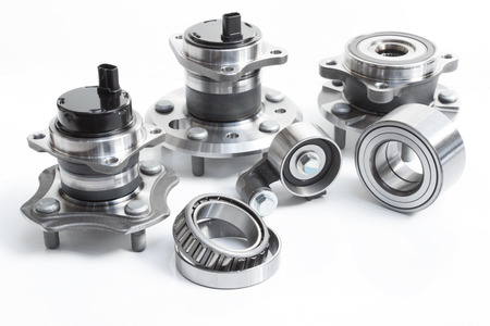 abs: the composition of the four car wheel bearings with ABS sensor and splines