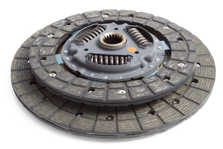 clutch: New clutch disc on a white background Stock Photo