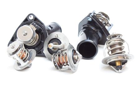 pomp: New car thermostat. Pressure relief valve engine coolant Stock Photo